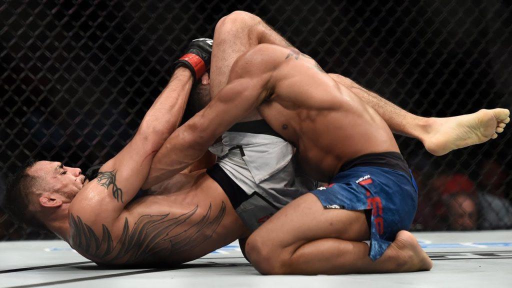 best triangle chokes UFC history