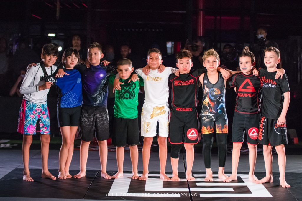The nine kids who engaged in the inaugural Grapple Royale