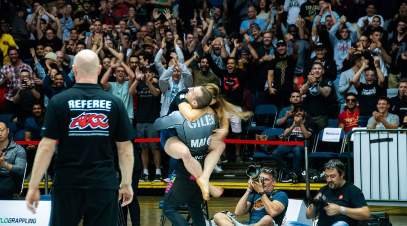 Lachlan Giles celebrating at ADCC 2019.