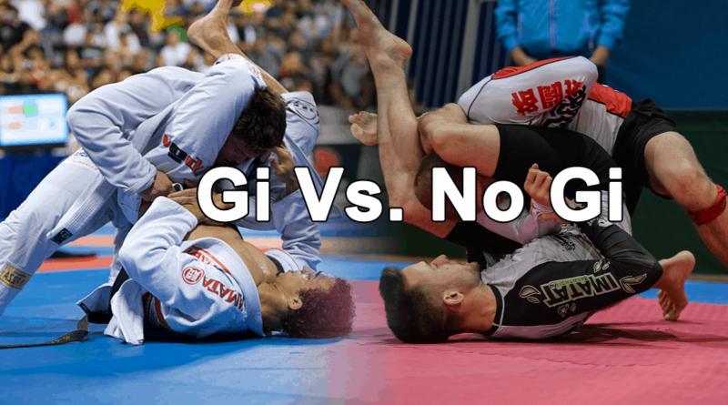 Gi and no-gi grapplers competing.