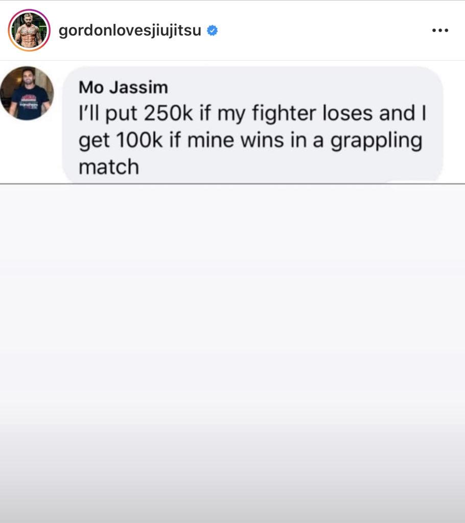 Mo Jassim offers bet for Gordon Ryan vs Colby Covington's Jiu Jitsu coach.