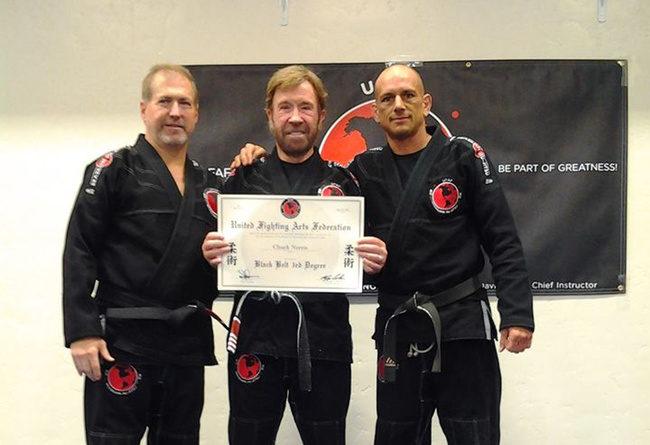 Chuck Norris BJJ black belt