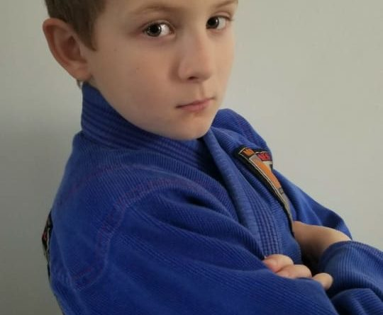 Nine-year old Jake who set up the 'Jiu Jitsu Kid' YouTube Channel